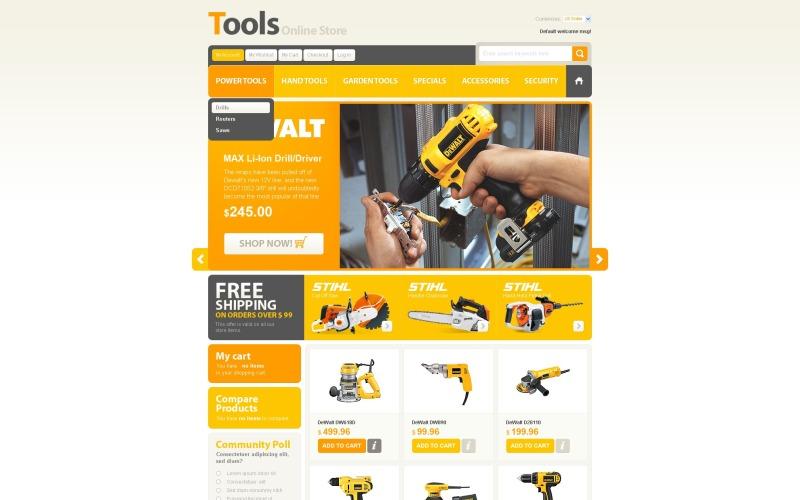 Eszközök és felszerelések Magento téma