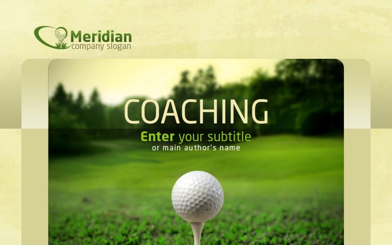 Plantilla de PowerPoint - golf