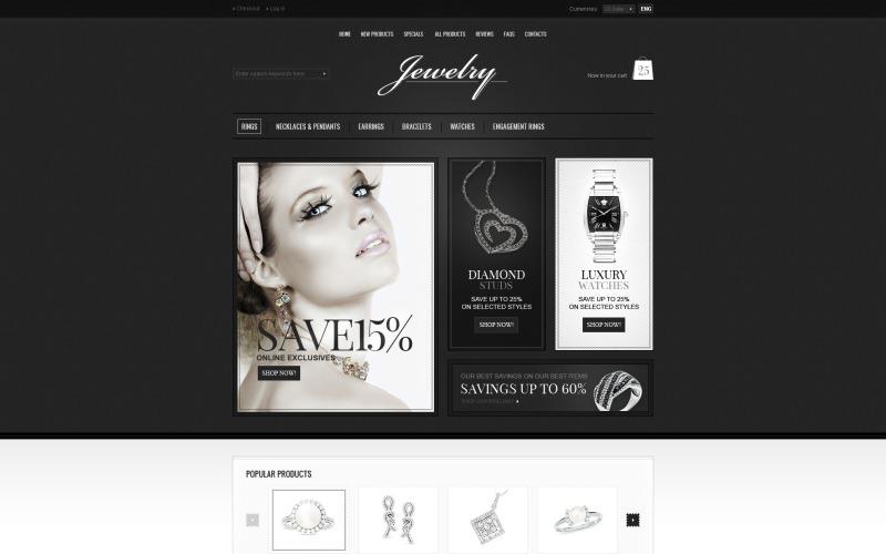 Modello ZenCart per gioielli