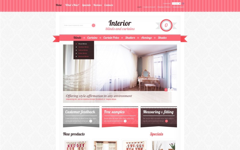 Window Decor OsCommerce Template