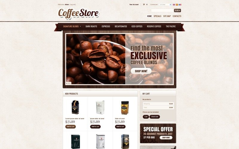Coffee PrestaShop Theme