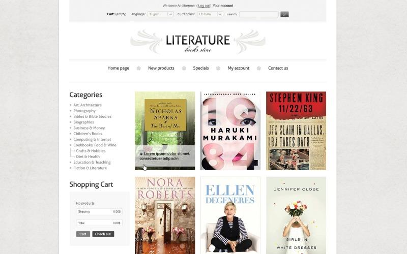 Literature Book Store PrestaShop Theme