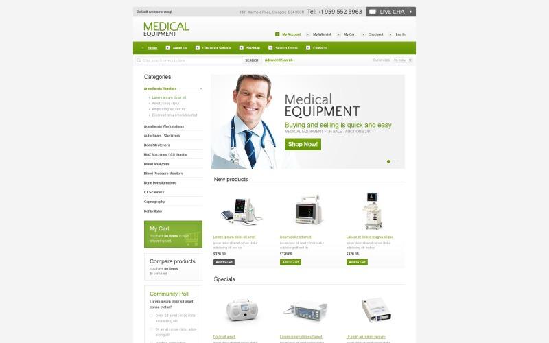 Medische apparatuur Magento-thema