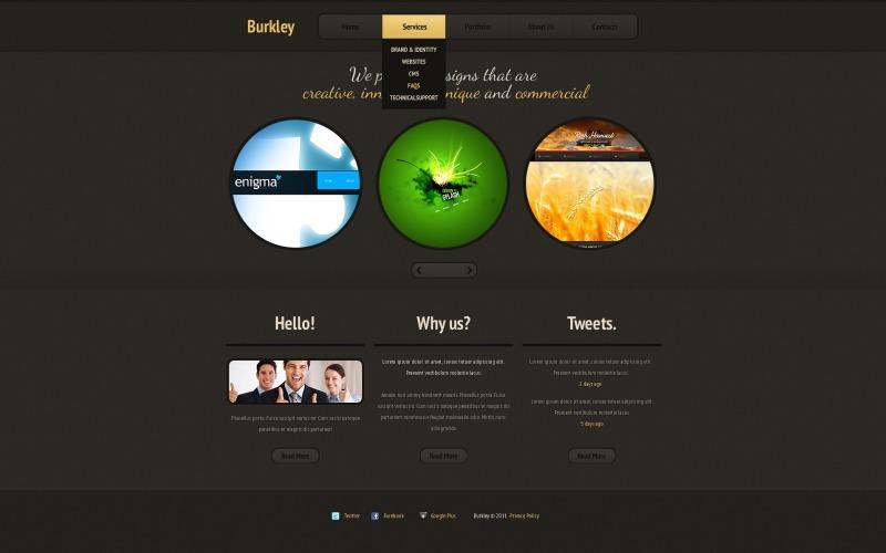 Ontwerp Studio Joomla-sjabloon