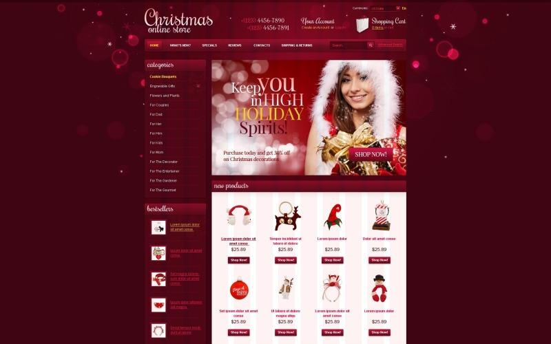 Christmas OsCommerce Template