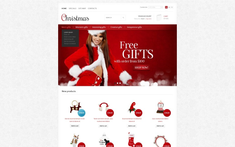 Christmas store PrestaShop Theme
