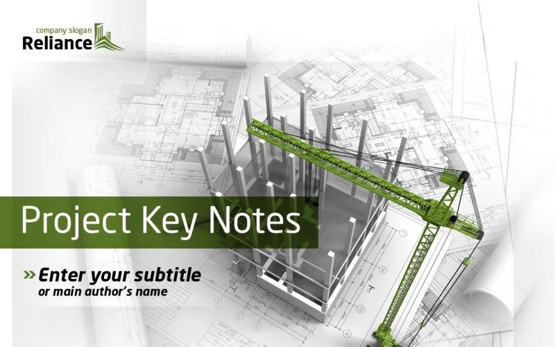 Modelo de PowerPoint de empresa de construção