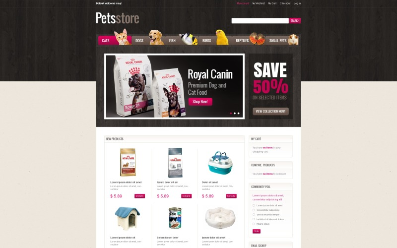 Tema de Pet Shop Magento