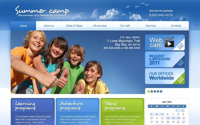 Summer Camp PSD Template