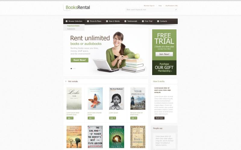 Books Website Template