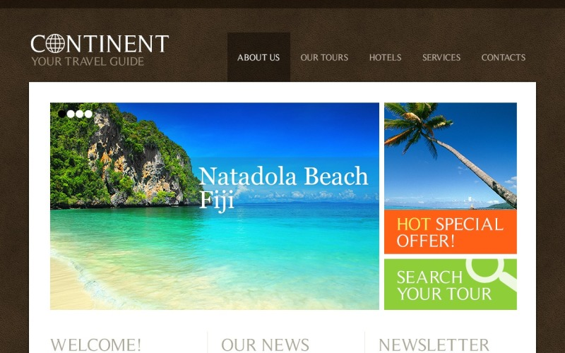 Travel Guide Joomla Template