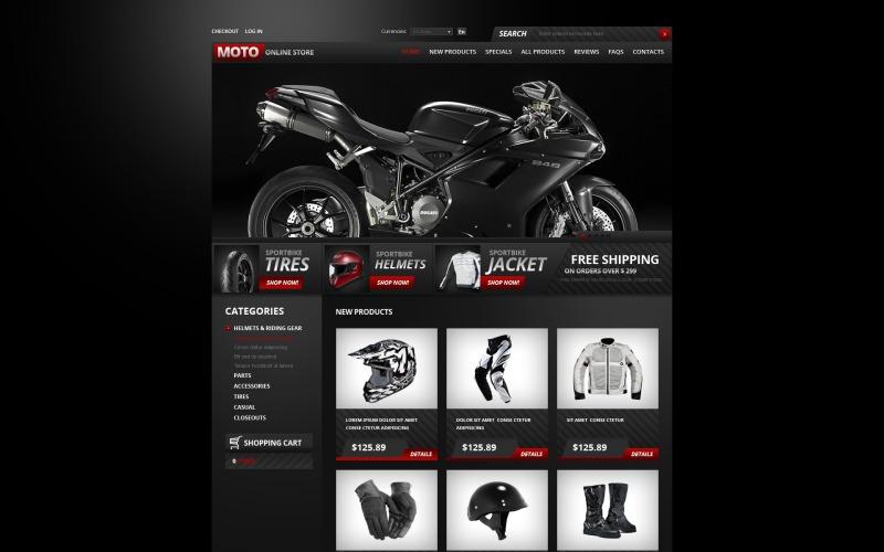 Bike Shop ZenCart Template