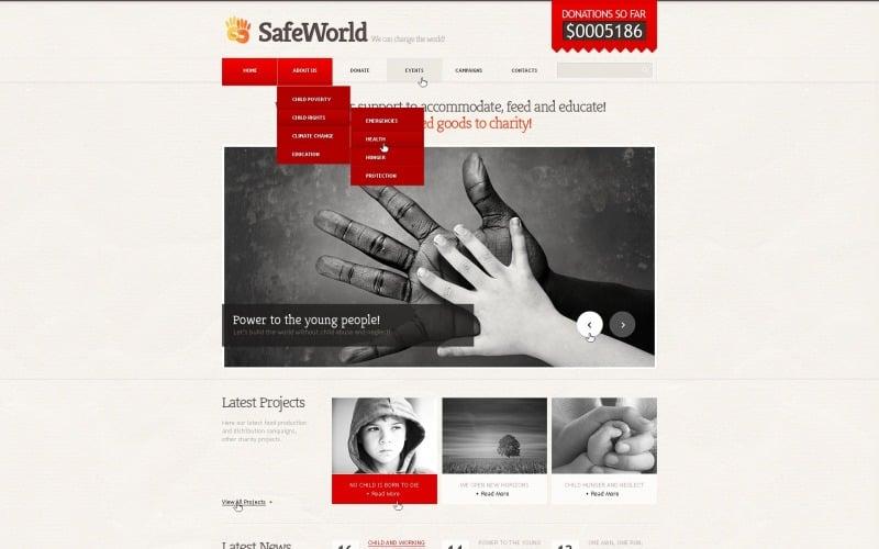 Charity Responsive Website Template