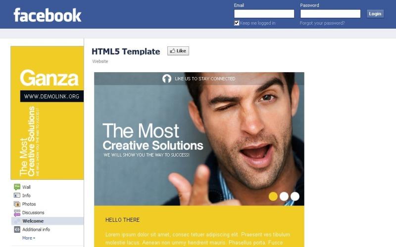Szablon dla biznesu i usług na Facebooku