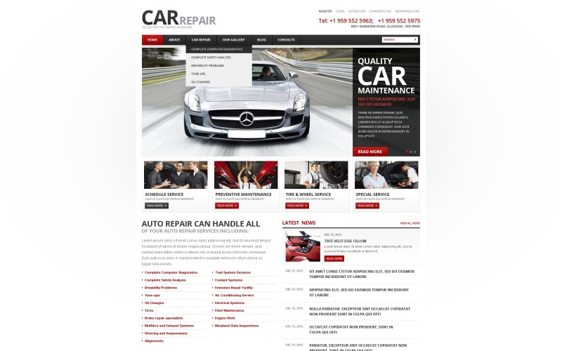 Car Repair WordPress Theme