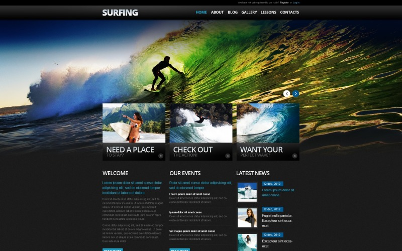 Surfing Drupal Template
