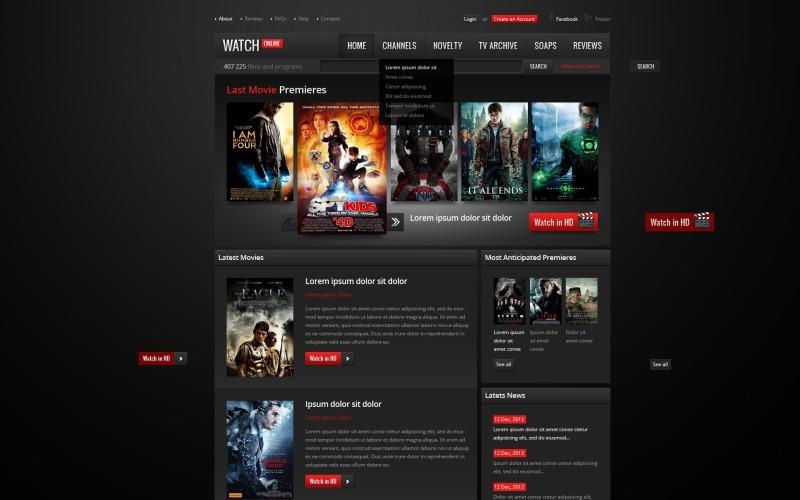 Movie Website Template