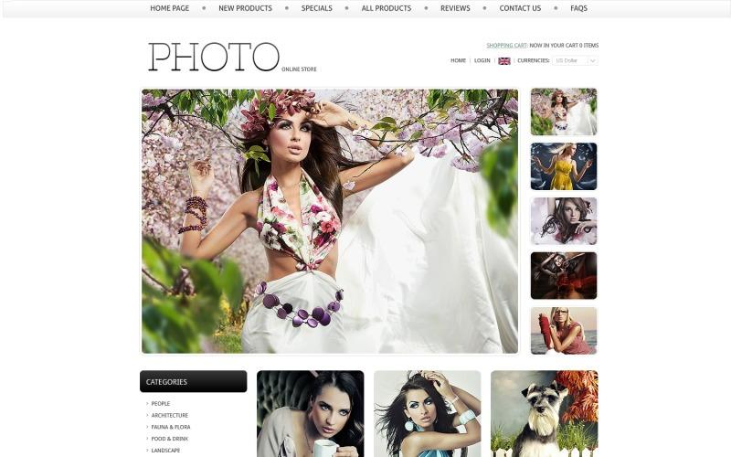 Online Photo Store ZenCart Template