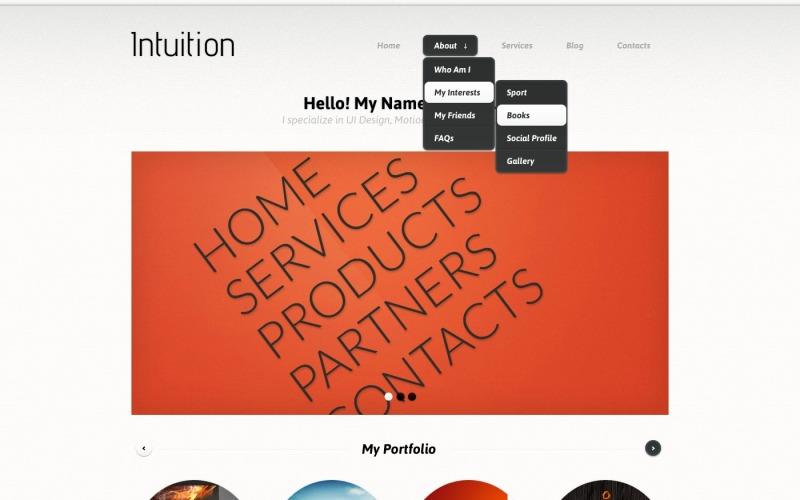 Designérské portfolio WordPress téma