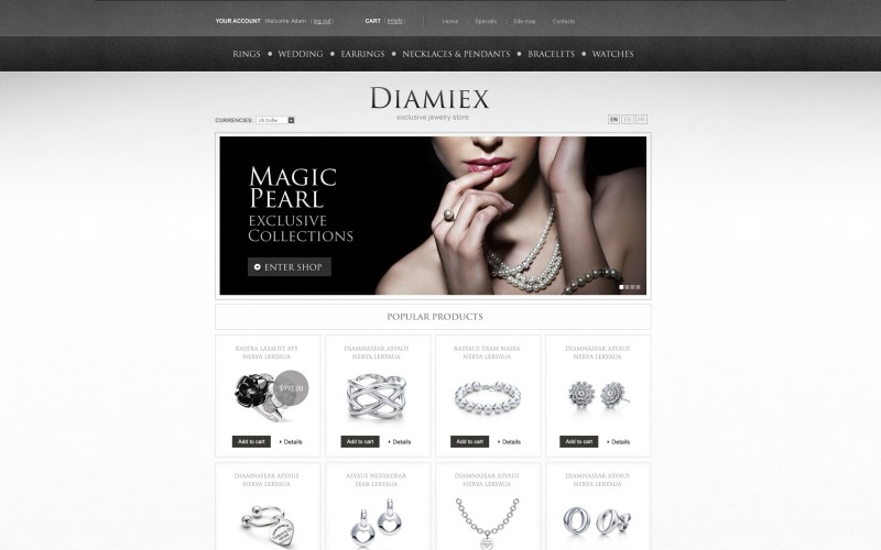 Elite Jewelry Magento Theme