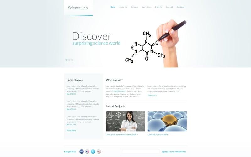 Science Lab Website Template