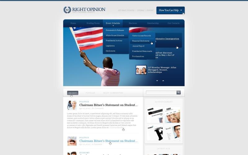 Political News Website Template