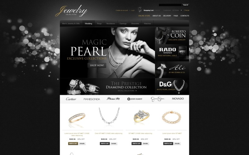 Modelo Dazzling Jewelry VirtueMart