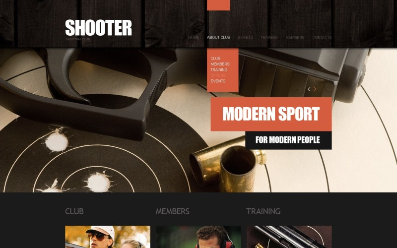 Weapons Store Website Template