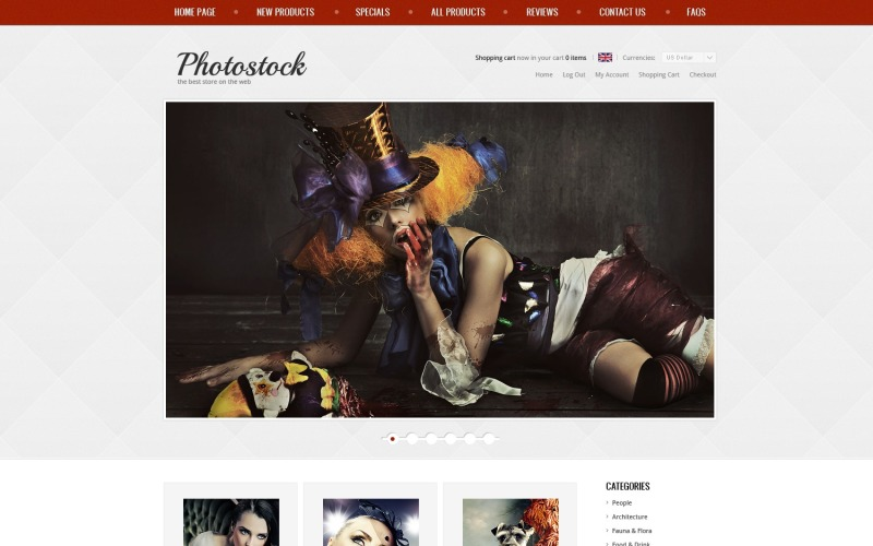 Photo Stock ZenCart Template