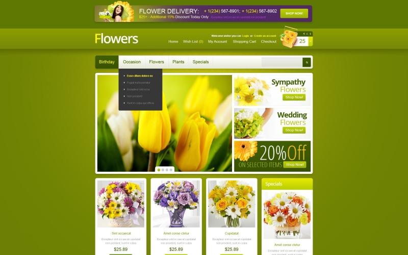 Fresh Flowers OpenCart Template