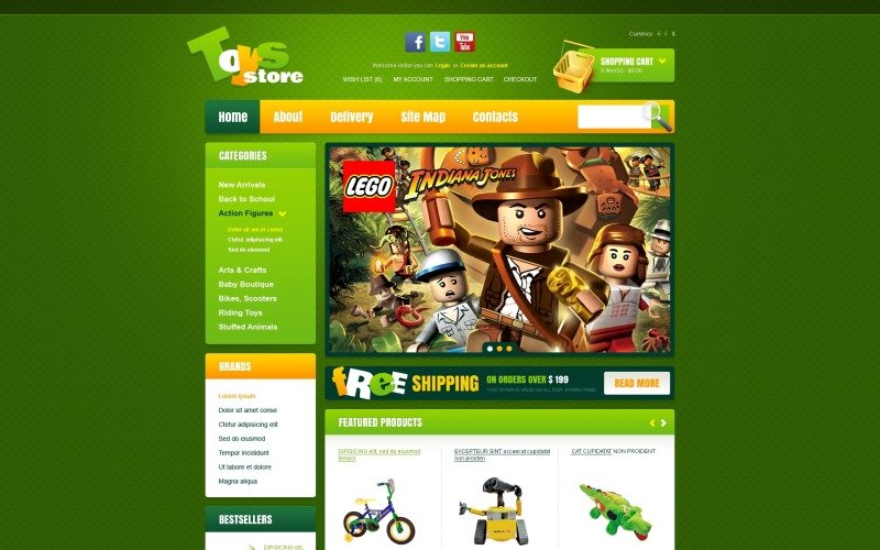 Toys for Happy Childhood OpenCart Template