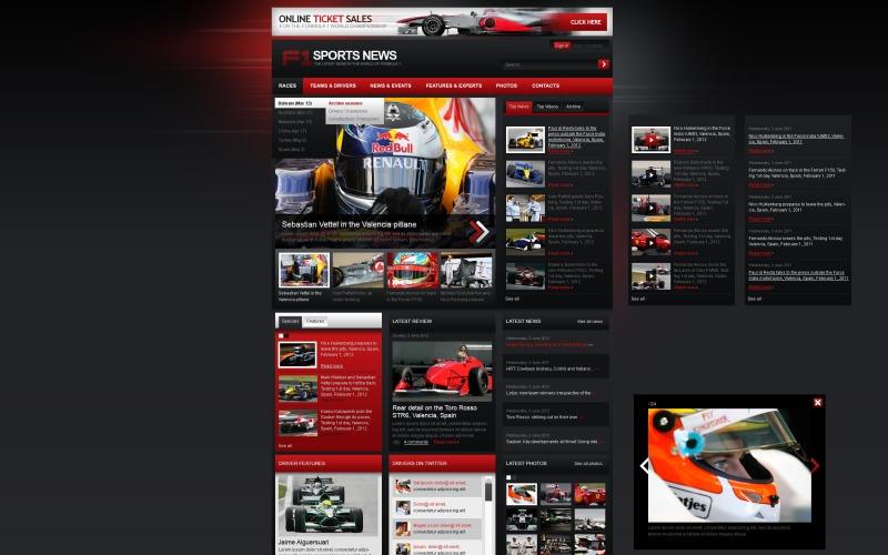 Szablon F1 Joomla