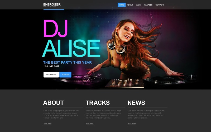 DJ WordPress Theme