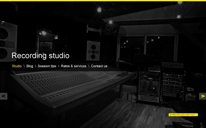 Recording Studio WordPress Theme