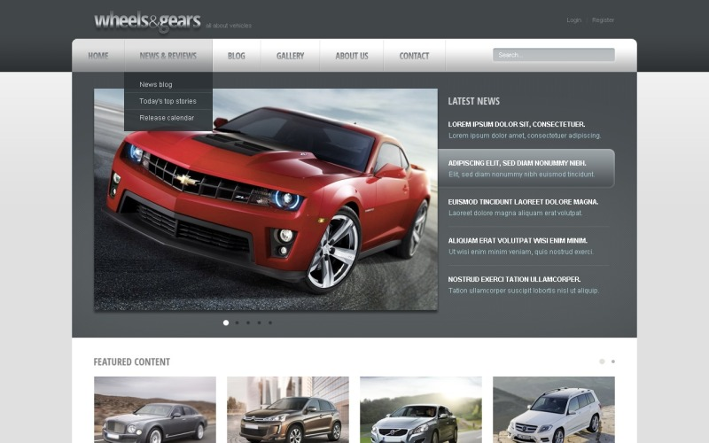 Wheels & Tires Drupal Template