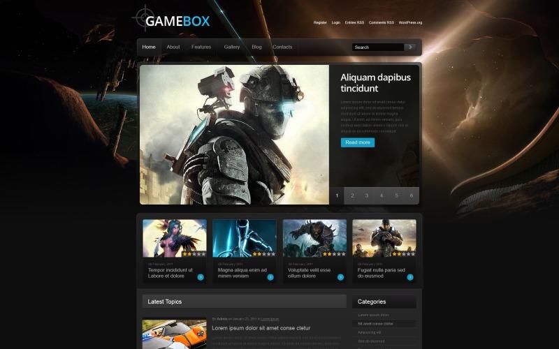 Motyw Game Portal WordPress