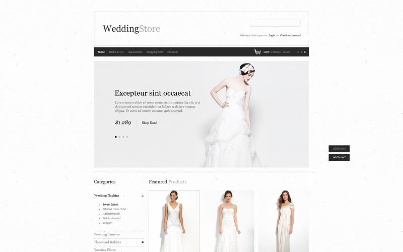 Wedding Fuss OpenCart Template