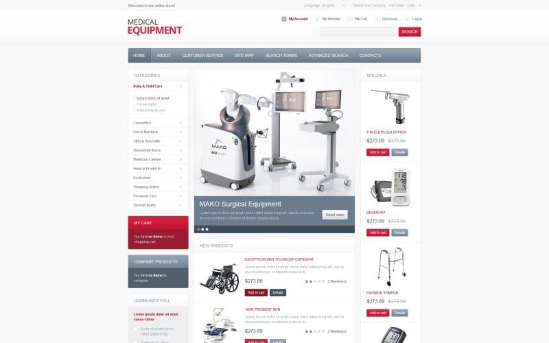 High-Tech Medical Equipment Magento Theme