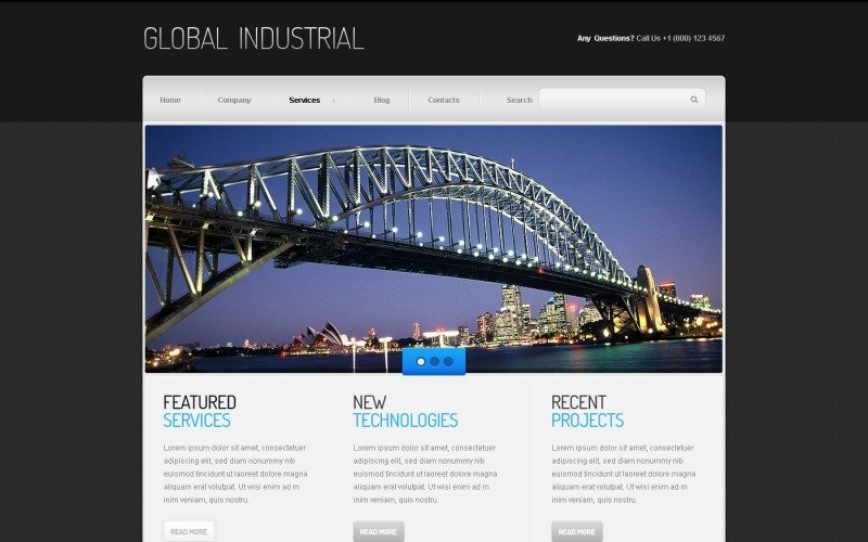 Industrial Joomla Template