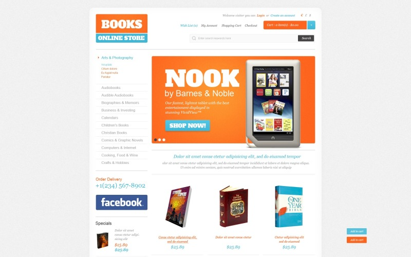 Books for All Ages OpenCart Template