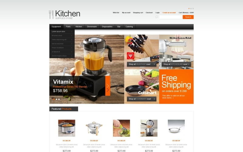 Chefs Choice OpenCart Template