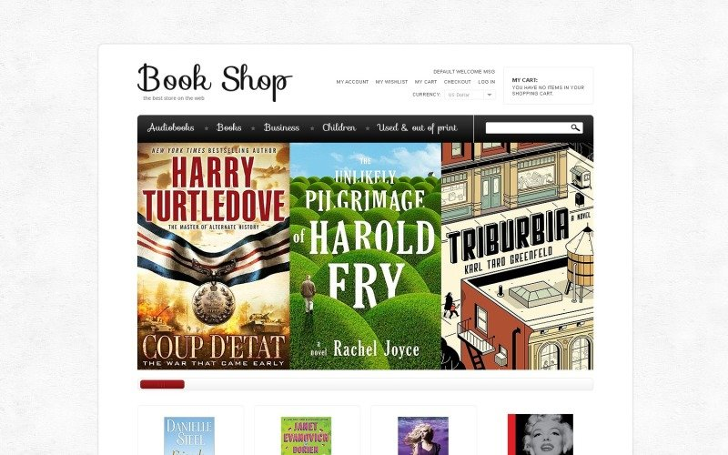 Book Shop Magento Theme