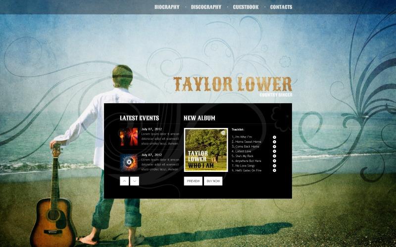 Singer Website Template