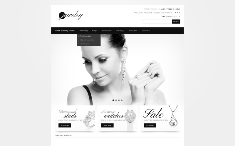 Gold Mine OpenCart Template