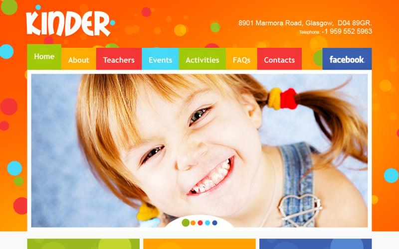 Kids Center Flash CMS Template