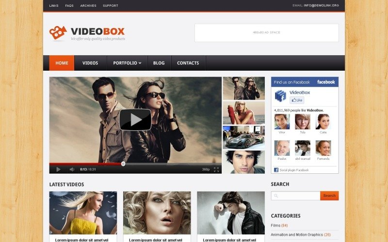 Video Gallery WordPress Theme