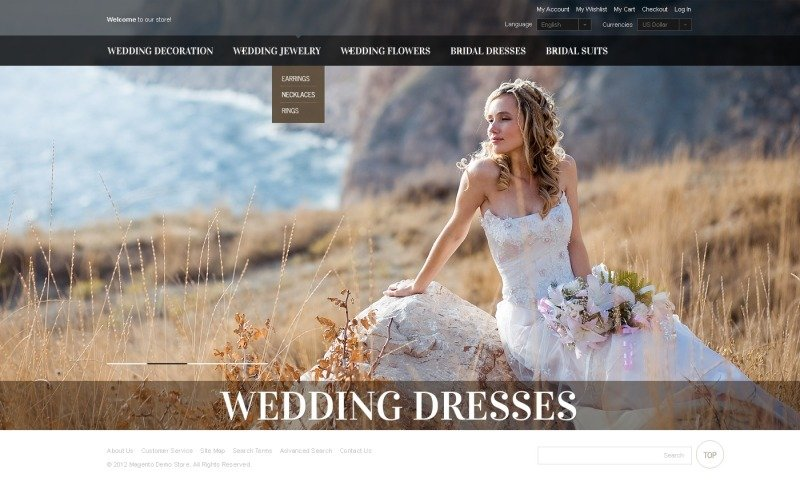 Wedding Dresses OpenCart Template