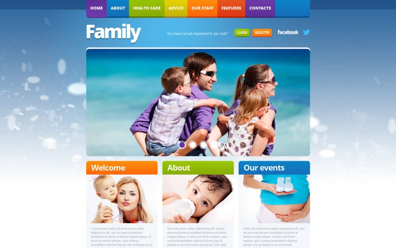 Family Responsive Website Template