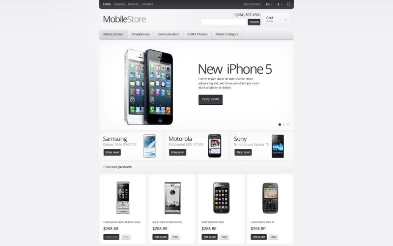 Responsive Mobile Store PrestaShop Theme