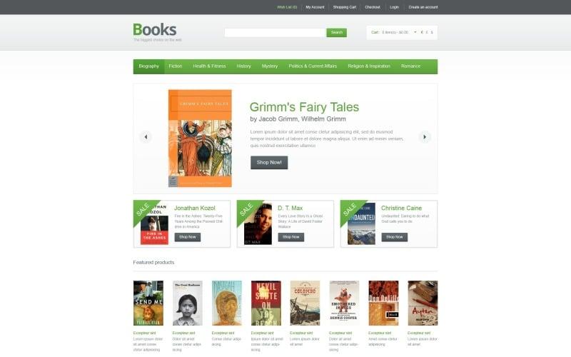 Books Online OpenCart Template